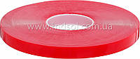 От 4мм до 1000мм\50метров      Высокопрозрачная акриловая лента (Лайнер - красная плёнка ПЕ).