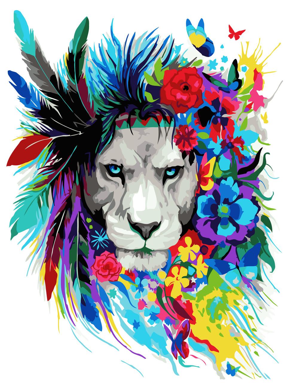 Рисование по номерам Идейка Волшебный лев (KHO2483) 40 х 50 см (без коробки)