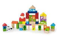Набор строительных блоков Viga Toys Ферма (50285)