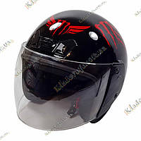 Мото шлем  Monster Energy , ¾, Котелок, Круизер, Чоппер, полулицевик, фото 1