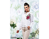 "Белая женская рубашка  ""Алмаз"" размер 42,44,46"