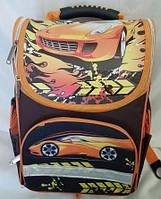 Рюкзак ортопедический каркасный для мальчиков, Гоночная машина
