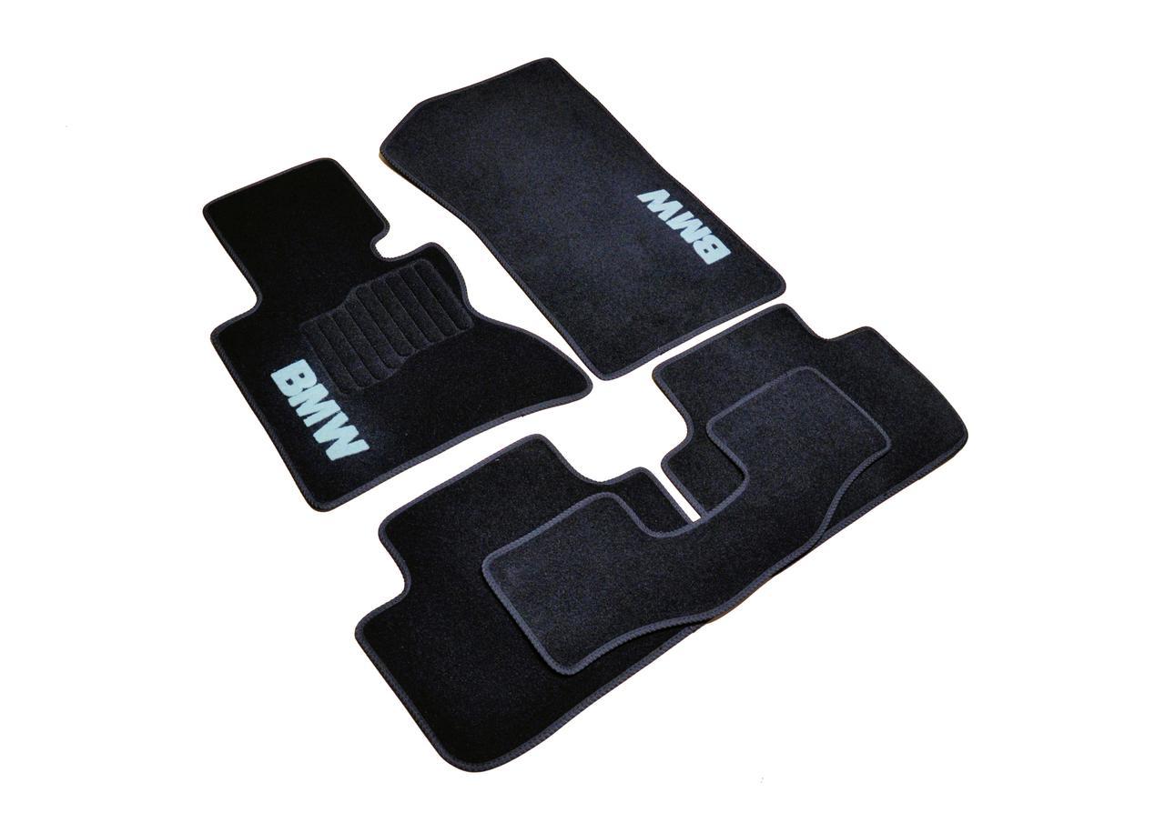 Килимки в салон ворсові AVTM для BMW X3 (Е83) (2003-2010) АКПП /Чорні, кт-5шт BLCCR1054