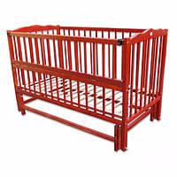 Детская кровать Labona МРИЯ № 4 ЭКО на шарнирах,  с подшипником, откидная боковина, нелакированная.