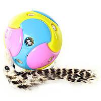 Разноцветный мячик-хвостик крутится, светится, играет музыка