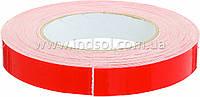 19мм\10метров      Белая лента на пенополиэтиленовой основе (Лайнер - плёнка красного цвета ПЕ).