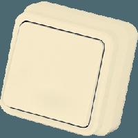 Выключатель одноклавишный крем Gunsan Misiya