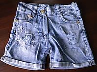 Шорты джинсовые летние на девочку