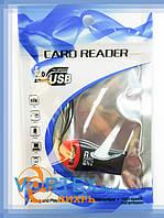 Кардридер- переходник 1x, microSD, TRY REDBACK, компакт, черный