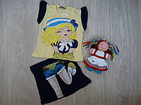 """Летний костюм """"Кокетка"""" футболка и юбка для девочки р.92"""