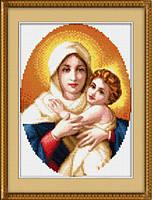 Набор для рисования камнями (холст) Мадонна с младенцем LasKo