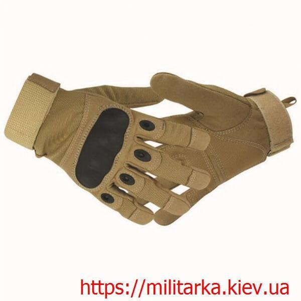 Тактические перчатки Oakley с пальцами coyote
