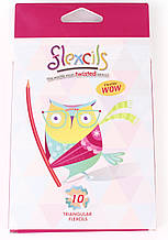 Гнучкі олівці Flexcils Сова 10 кольорів