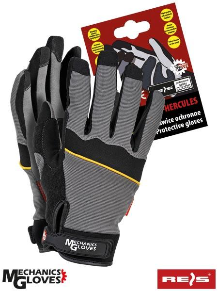 Мотоперчатки з світловідбиваючий смужкою Польща (рукавички) RMC-HERCULES SB