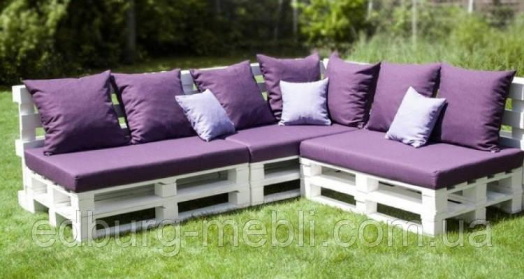 Подушки для мебели из паллет, поддонов - фото 7