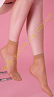 Женские носки капроновые, лайкра , сетка, телесные 20 DEN