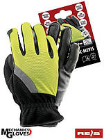 Перчатки флуоресцентного желтого цвета REIS (RAW-POL) Польша RMC-MEVIS