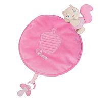 Плюшевый одеяло белка розовый