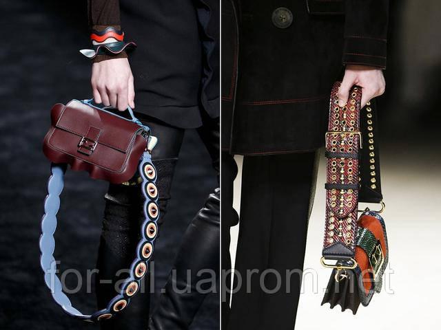 Модная женская сумка 2017 с массивным ремешком