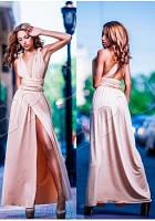 Платье трансформер пудровое для подружек невесты