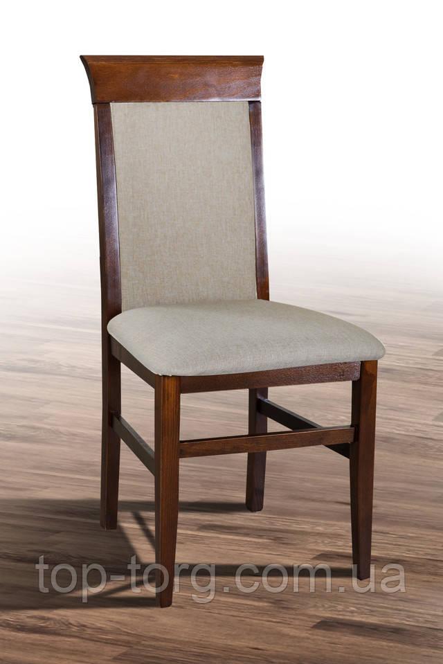 Стілець Алла темний горіх, з м'якою спинкою та сидінням, в новій тканини Бари56