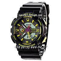 Неубиваемые спортивные наручные часы Casio G-shock GA-110 Black-Yellow (черные с желтым)