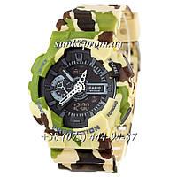 Неубиваемые спортивные наручные часы Casio G-shock GA-110 Militari Green (милитари)