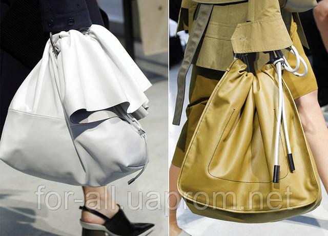 Модная женская сумка-мешок. 2017