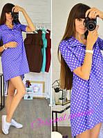Короткое платье в горох в нескольких расцветках s-t2032764