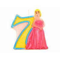 Свечи  цифры  (в торт) № HS-139 Принцессы №7