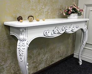 """Консоль """"Пьемонт"""" белая с серебром, фото 2"""