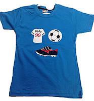 Футболка на мальчика детская мяч кед (лето)