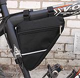 Вело сумка подрамная треугольная велосипедная сумка для велосипеда, велосумка велобардачок, фото 2