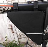 Вело сумка подрамная треугольная велосипедная сумка для велосипеда, велосумка велобардачок, фото 4