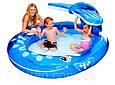 """Надувной бассейн детский Intex 57435 """"Кит"""" с фонтаном 208 х 163 х 99 см, синий, фото 2"""