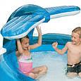 """Надувной бассейн детский Intex 57435 """"Кит"""" с фонтаном 208 х 163 х 99 см, синий, фото 4"""