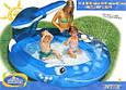"""Надувной бассейн детский Intex 57435 """"Кит"""" с фонтаном 208 х 163 х 99 см, синий, фото 6"""
