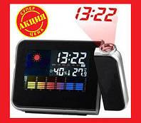 Оригинальные Часы-метеостанция 8190 с проектором времени. Хорошее качество. Доступная цена. Дешево Код: КГ1507