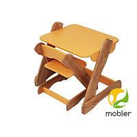 Столик и стульчик оранжевый Mobler