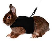 Шлея-жилетка с поводком для кроликов 25-32см/10мм