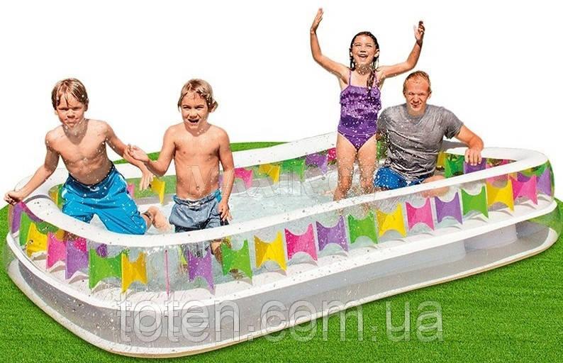 Дитячий надувний прямокутний басейн Intex 57477
