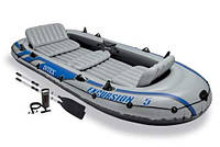 Intex Лодка EXCURSION 68325 надувная на 5х чел, насос, весла