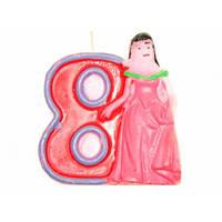 Свечи  цифры  (в торт) № HS-139 Принцессы №8