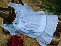 Блузка туника из хлопка 3021 белый 42-46р