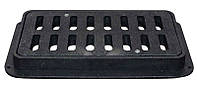 Решетка дорожная пластмассовая ДБ 790х400х80 мм (ХП) (Ч) с замком
