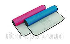 Килимок для йоги та фітнесу ( 61 см * 175 см * 6 мм), фото 3
