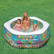 Детский надувной бассейн Аквариум с надув дном и мягкими стенками Intex 56493 об 510л разм 193х178х61см