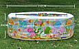 Надувной бассейн детский Аквариум с надувным дном Intex 58480 объем 410л разм 152х56см, фото 3