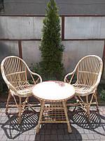 Набор из лозы 2 кресла+журнальный стол