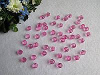 Бусины хрустальные розовые 8 мм (искусственные)